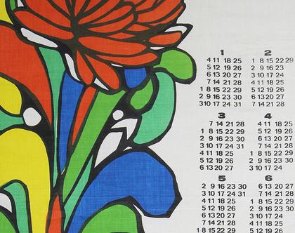 לוח שנה מעוצב מ-1976, לוח שנה עשוי בד