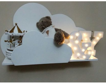 מדף ענן מעץ