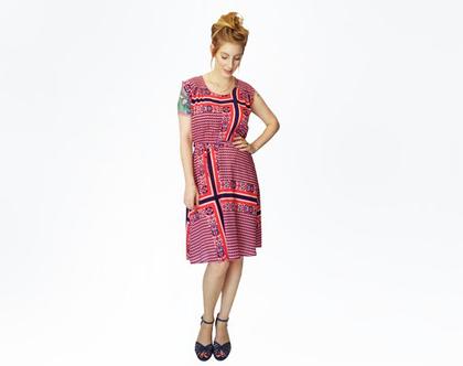 שמלת משי רטרו