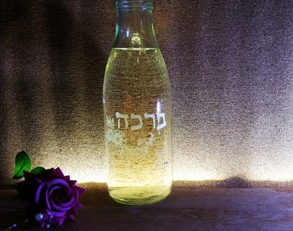 בקבוק זכוכית, כבוד, חריטה אומנותית בעבודת יד