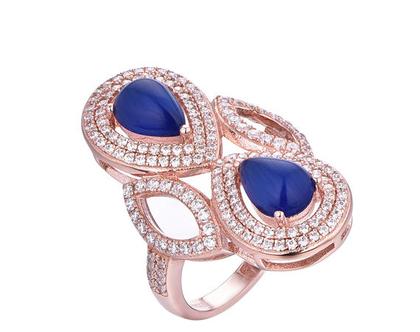 טבעת טיפות כפולה-טבעת מיוחדת-עיצוב אישי מתנה לאישה טבעת ליום יום