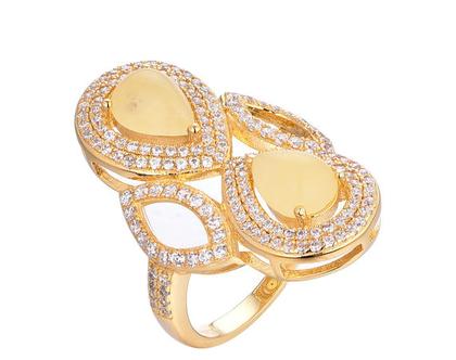 טבעת טיפות כפולה-טבעת מיוחדת-עיצוב אישי