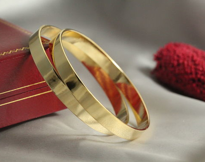 סט צמידים זהב 21k | צמיד חלק עדין | צמיד מיוחד | צמיד מרוקאי | צמיד זהב | צמיד זהב מרוקאי | 21 קראט | צמיד עדין | צמיד זהב לחינה | מצופה זהב