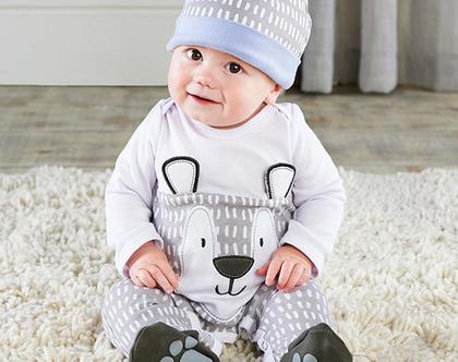 אוברול לתינוק סט דובי