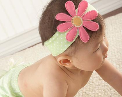 סרט ראש וגרביים מארז פרח לתינוקת