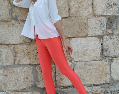 מכנסי הפלא מכנס לייקרה מכנס במיידות מכנס גבוה מכנס נוחמכנס צבעוני