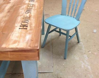 שולחן עץ 130/80/75