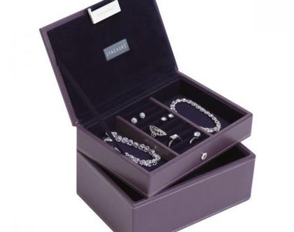 קופסת תכשיטים מודולרית 2 קומות - סגול סגול