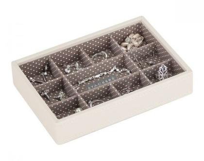 מגש מחולק לקופסת תכשיטים מודולרית - וניל מוקה