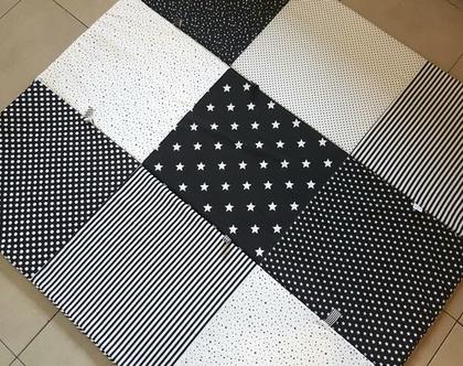משלוח מתנה - מזרון פעילות מתקפל שחור לבן כוכבים   משלוח עד הבית מתנה   משטח פעילות כוכבים  מונוכרומטי  שטיח לחדר ילדים   מתנה ליולדת