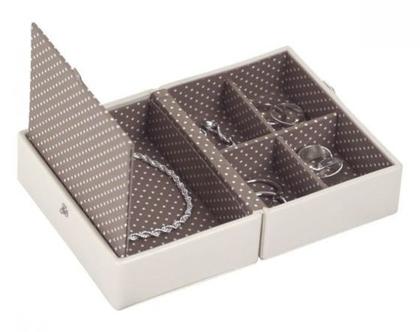 קופסא קומפקטית לתכשיטים - וניל מוקה