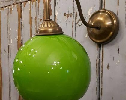 מנורת זרוע כדור ירוק גדול