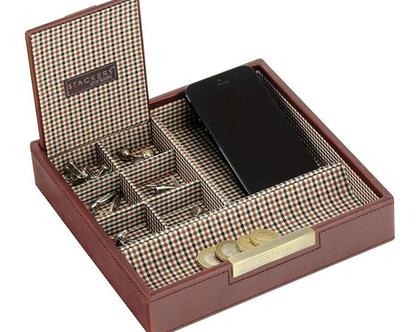 סט קופסאות מודולריות למשרד ולבית - חום משובץ