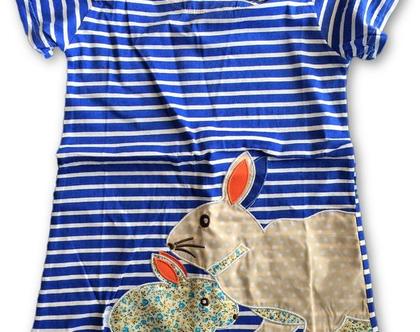 שמלת ארנבונים מפוספסת