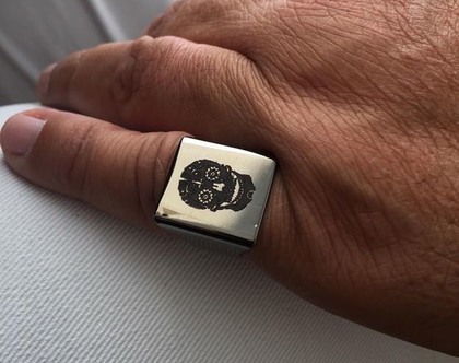 טבעת לגבר - טבעת גולגולת לגבר - טבעות גברים - טבעת כסף לגבר