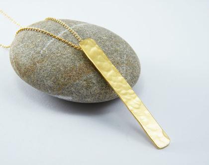 שרשרת גולדפילד מעוצבת שרשרת מלבן רקוע שרשרת מלבן זהב לאשה