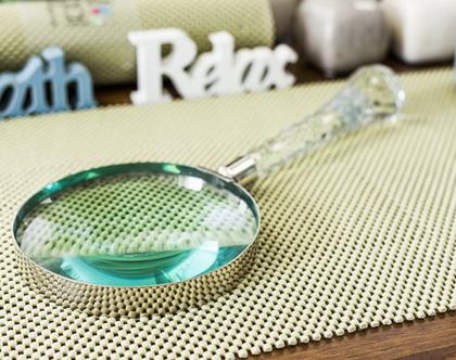 זכוכית מגדלת ידית קריסטל