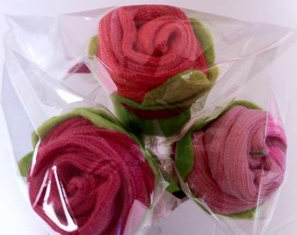 זוג גרביים - ורד