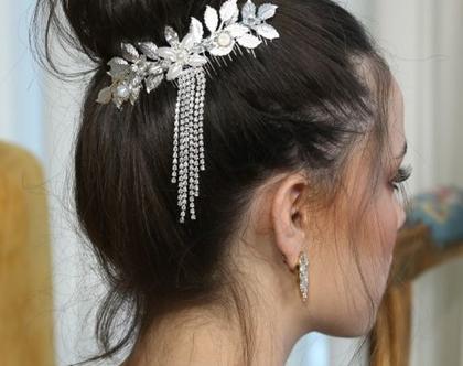 סיכה לכלה, מסרקה לכלה, תכשיט לכלה, תכשיטים לחתונה, אביזר שיער לכלות