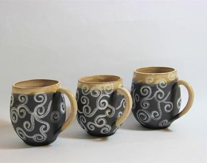 סט שלישיית ספלים מקרמיקה, ספלים מקרמיקה, סט כוסות מקרמיקה, שלישית כוסות מקרמיקה, סט כוסות תואם מקרמיקה, כוס קפה מקרמיקה, ספל מקרמיקה, מאג