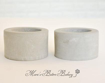 פמוטים מבטון | 2 יח' | פמוטי בטון | מתנה מבטון | עיצוב בבטון | הום סטיילינג