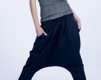 מכנס טריפו שחור   מכנסי שק שחורים   מכנסי שק   50%