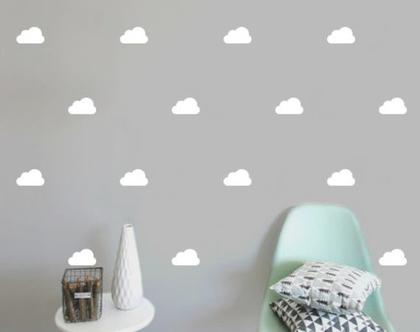 מדבקות עננים   מדבקות לחדר ילדים   מדבקות לחדרי ילדים   מדבקות לחדרי תינוקות   מדבקות קיר עננים לבנים   עיצוב חדרי ילדים