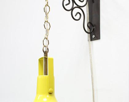 מנורת קיר וינטאג׳ צהובה, מנורת וינטאג׳ צהובה, ספוט וינטאג׳ צהוב