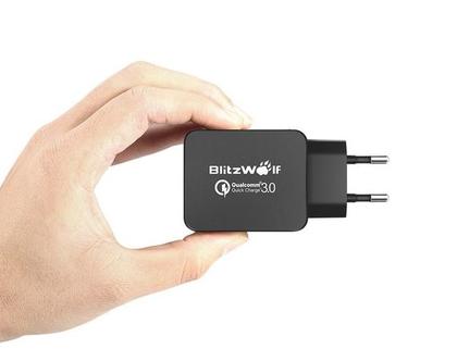 מטען USB מהיר ואיכותי מבית BlitzWolf עם טכנולוגיית Quick charge 3.0