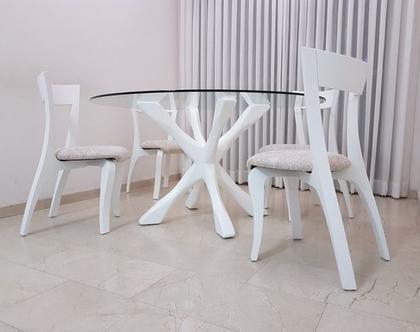 ברצלונה - שולחן עגול לפינת אוכל