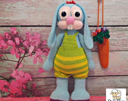 בובות סרוגות- מוג'ו הארנב הגדול