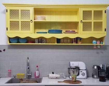ויטרינה למטבח, וויטרינה למטבח, ארון עליון למטבח, ארונית מדפים למטבח