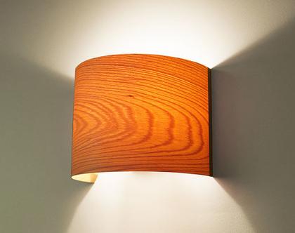 """מנורת קיר, מנורת לילה, מנורה לצידי מיטה, מנורת פורניר,מנורת קשת, """"ארכ""""- בוק"""
