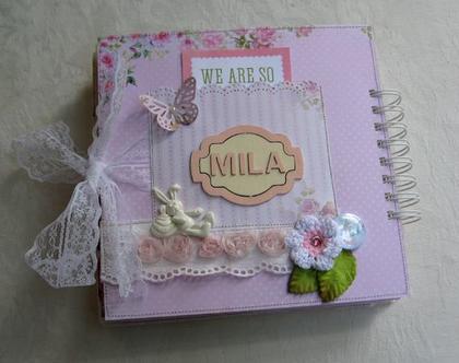 אלבום שנה ראשונה / מתנה לתינוקת / דגם Mila