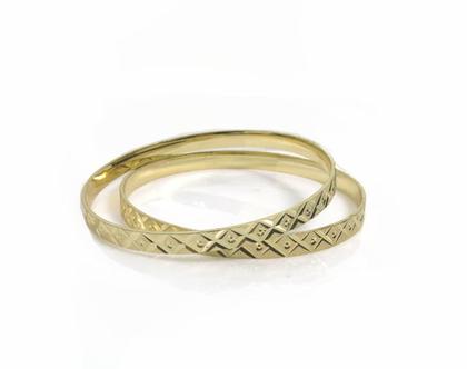צמיד מרוקאי מעוצב בציפוי זהב