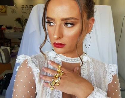 טבעת פרחים זהב