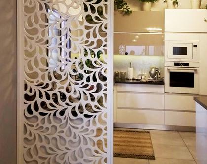 משרביה לקיר גבס | קיר מחיצה | משרביה עץ | משרביה מעוצבת דגם RONDO