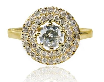 טבעת 1 קראט | טבעת אירוסין | טבעת זהב | טבעת יהלומים | יהלום | משובצת יהלום | טבעת זהב צהוב | טבעת יוקרתית | טבעת מעוצבת | טבעת מיוחדת