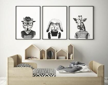 ״חיות או לא להיות״ | פוסטר השראה | פוסטר לחדרי ילדים | עיצוב מתוחכם| פוסטר שחור לבן | עיצוב הבית | מתנה ליולדת | חדרי ילדים
