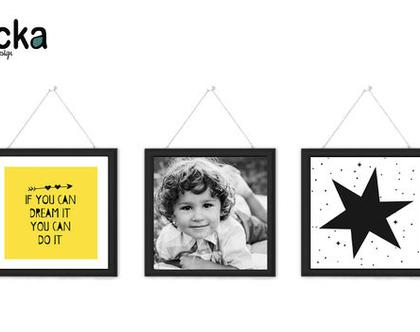 סט 3 תמונות לחדר ילדים - הכוכב שלי