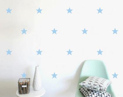 מדבקות כוכבים גודל אחד 60 צבעים לבחירה   מדבקות לחדר תינוקות   מדבקות ויניל   מדבקות לחדר ילדים   מדבקות לחדרי ילדים   מדבקות קיר