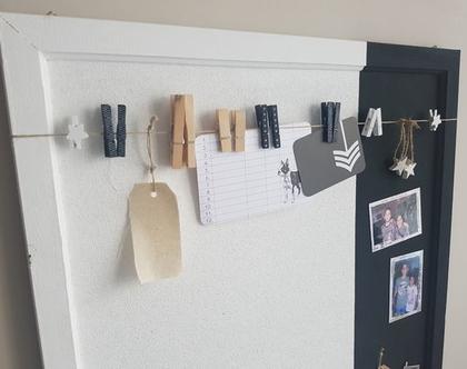 לוח שעם וקצת מגנט | לוח מודעות | עיצוב הבית | לוח שעם ומגנט שחור לבן | לוח מודעות | מטבח |משרד