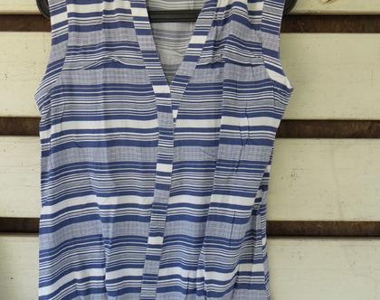 חולצת פסים כחול לבן של נקסט