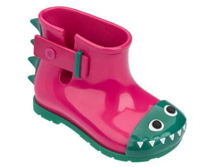 מגפיים לילדים mini melissa דינוזאור ורוד