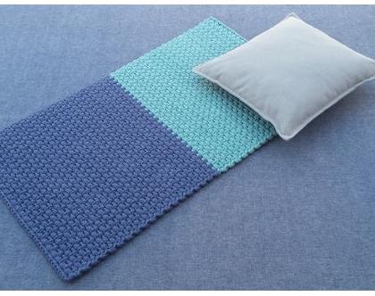 שטיח טריקו קטן | שטיח מלבני סרוג | שטיחון עבודת יד | שטיחון סרוג | שטיחון למטבח | שטיחון למקלחת | שטיחון לחדר שינה | שטיחים סרוגים