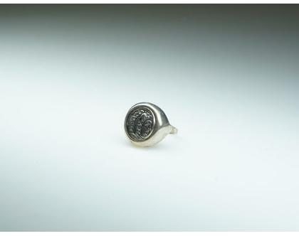 טבעת מטבע מכסף מושחר