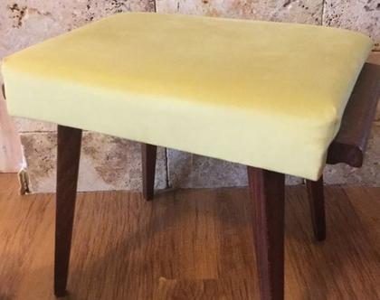 הדום וינטג', הדום וינטאג', הדום מחודש, הדום מרופד, פריט עיצובי יפהפה, כסא מרופד, כיסא-שרפרף