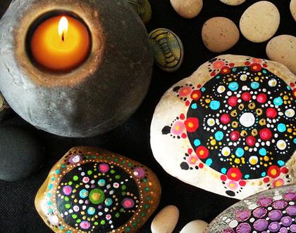 מנדלות אבנים | סדנת פרטית ליחיד | ציור מדיטטיבי | Rock Mandala | שובר לסדנה במתנה | ציור על חלוקי נחל | DIY | סדנה למבוגרים