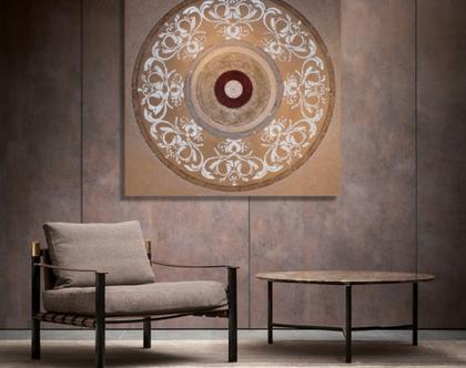 """""""אדריאנה"""" - תמונה אבסטרקטית מיוחדת עם שברי זכוכית וטקסטורות מובלטות..."""