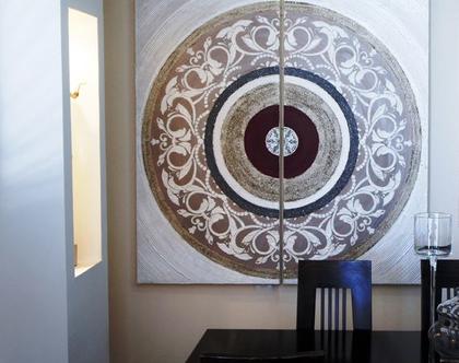 """""""אלונזו"""" - תמונה אבסטרקטית מיוחדת עם שברי זכוכית וטקסטורות מובלטות..."""